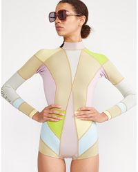 Cynthia Rowley Kalleigh Colorblock Wetsuit - Multicolor
