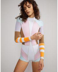 Cynthia Rowley Jordan Colorblock Wetsuit - Multicolor