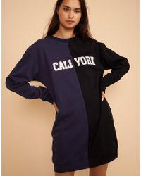 Cynthia Rowley - Cali York Embroidered Sweatshirt Dress - Lyst