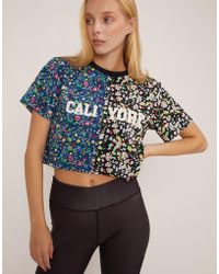 Cynthia Rowley - #crxbandier Caliyork Floral Crop Tee - Lyst
