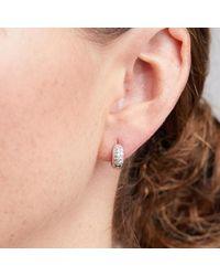CZ by Kenneth Jay Lane Micro Pave Mini Hoop Earrings - Multicolor