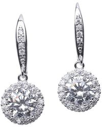 CZ by Kenneth Jay Lane Classic Round Drop Pierced Earring - Multicolor