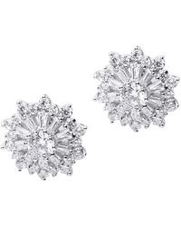 CZ by Kenneth Jay Lane Cz Snowflake Studs - Multicolor