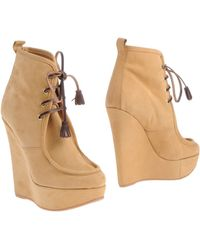 DSquared2 Yellow Ankle Boots - Lyst