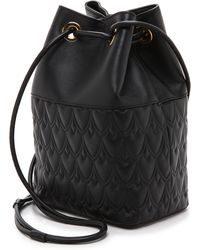 Reece Hudson - Small Bowery Signature Embossed Bucket Bag - Lyst