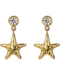 Theo Fennell 18ct Yellow-gold And Diamond Starfish Earrings - Metallic