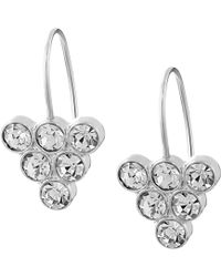 Fossil Stacked Crystal Earrings - Lyst