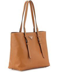 Prada Saffiano Soft Tote Bag - Lyst