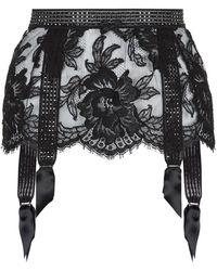 Agent Provocateur Aneliya Suspender Belt black - Lyst