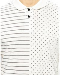 Asos Polo with Spot and Stripe Print - Lyst