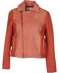 Leon & Harper Leather Outerwear - Lyst
