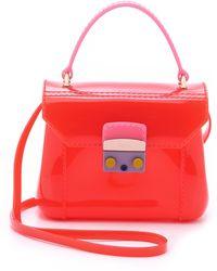 Furla Candy Bon Bon Mini Cross Body Bag - Pale Pink And Rose - Lyst