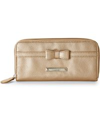 Nine West Gold-Tone Tie A Bow Wallet - Lyst