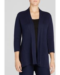 Eileen Fisher Open Front Cardigan - Lyst