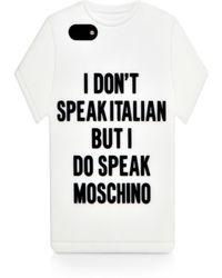 Moschino T-Shirt Iphone 5/5S Case - Lyst