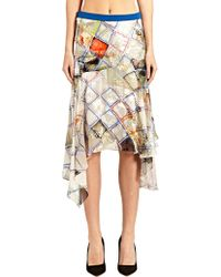 Preen New Season - Womens Silk Flower Grid Skirt - Lyst