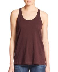 Theory Lydra Racerback Tank Top red - Lyst