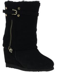 Love From Australia   Nikita Snake Wedge Boots   Lyst