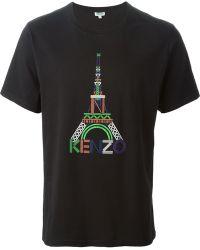 Kenzo Black Eiffel T-Shirt - Lyst