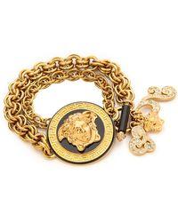 Versace Chain Bracelet  Black - Lyst