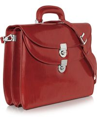 L.a.p.a. Womens Red Leather Briefcase - Lyst