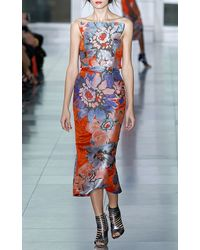 Antonio Berardi Painterly Flower Print Strapless Cocktail Dress - Lyst