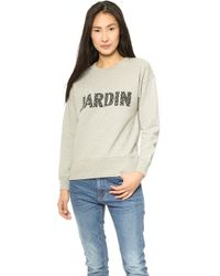 Madewell Jardin Graphic Pullover Heather Dusk - Lyst