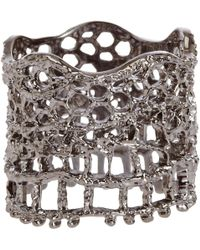 Aurelie Bidermann Lace Ring silver - Lyst