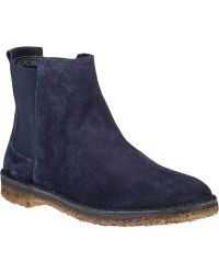 Vince Cody Ankle Boot Ink Suede - Lyst