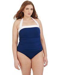 Lauren by Ralph Lauren Plus Plus Size One Piece Bel Aire Bandeau Swimsuit - Lyst