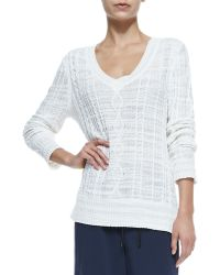 Rag & Bone Shana V-Neck Cable-Knit Sweater - Lyst