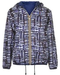 Topshop Printed Reverse Bomber Jacket By K-Way X - Lyst