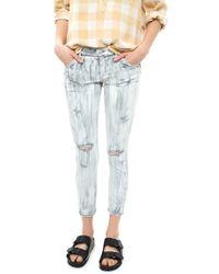 Goldsign Glam Skinny Crop Jean - Lyst