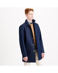 J.Crew Mackintosh® Laggan Half-Trench Coat In Japanese Chambray - Lyst