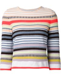 Suno Striped Sweater - Lyst