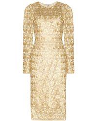 Dolce & Gabbana Metallic Macramé Lace Dress - Lyst