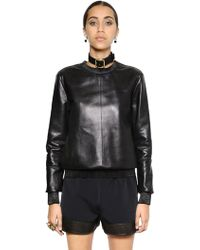 Givenchy Nappa Leather Top - Lyst