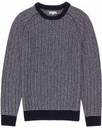 Reiss Count Textural Weave Jumper - Lyst