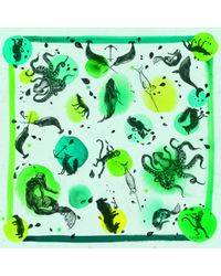 Klements Narwhale Acid Long Scarf - Green