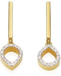 Monica Vinader Diva Mini Lotus Open Drop Earrings - Metallic