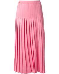Vionnet Pleated Knit Skirt - Lyst