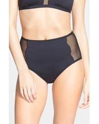 BCBGeneration - 'Sun & Surf' High Waist Bikini Bottoms - Lyst