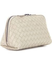 Bottega Veneta Intrecciato Leather Cosmetic Case - Lyst