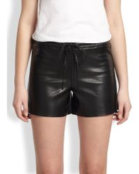 Bailey 44 - Sudan Faux Leather Shorts - Lyst