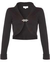 Almost Famous Knitted Shrug black - Lyst