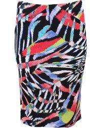 Just Cavalli Asymmetric Print Skirt - Lyst