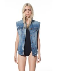 Genetic Los Angeles Indie Oversized Vest blue - Lyst