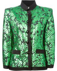 Yves Saint Laurent Vintage Fitted Jacquard Jacket - Lyst