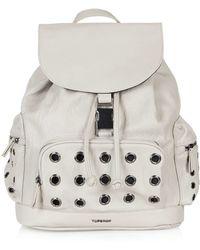 Topshop   Eyelet Backpack   Lyst
