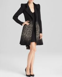 Alice + Olivia Alice  Olivia Coat  Carth Puff Shoulder Flare - Lyst